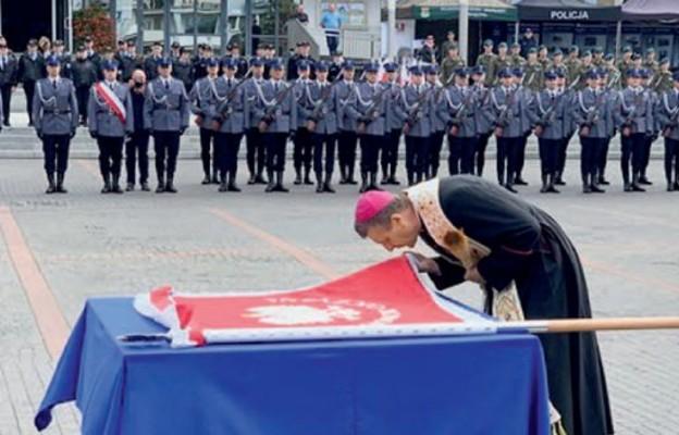 Sztandar dla oświęcimskiej policji
