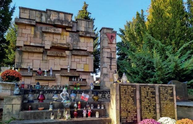 Pomnik Pamięci Ofiar Niemieckich Obozów Koncentracyjnych na cmentarzu komunalnym Wilkowyja