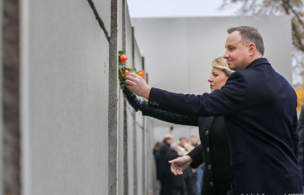 Prezydent na obchodach 30. rocznicy upadku muru berlińskiego