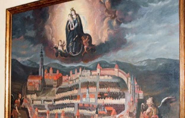 Panorama Świdnicy z religijnym przesłaniem