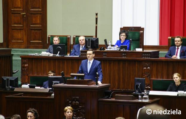 Premier Morawiecki w expose: nie ma naszej zgody na rewolucje ideologiczne