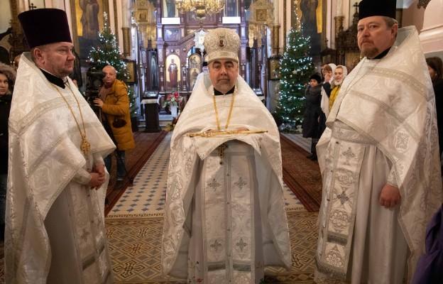 Łódź, ks. mitrat Eugeniusz Fiedorczuk podczas liturgii w katedrze pw. św. Aleksandra Newskiego