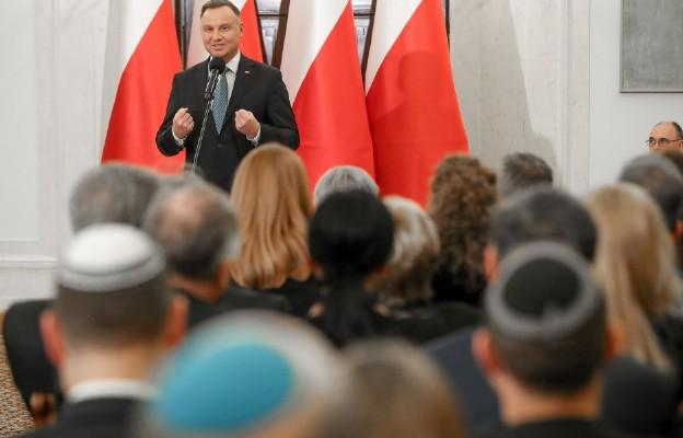 Prezydent Andrzej Duda spotkał się ze środowiskami żydowskimi