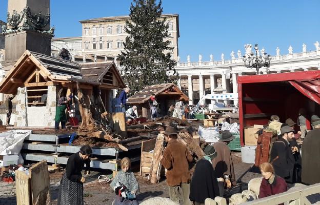 Z placu św. Piotra zniknął żłóbek