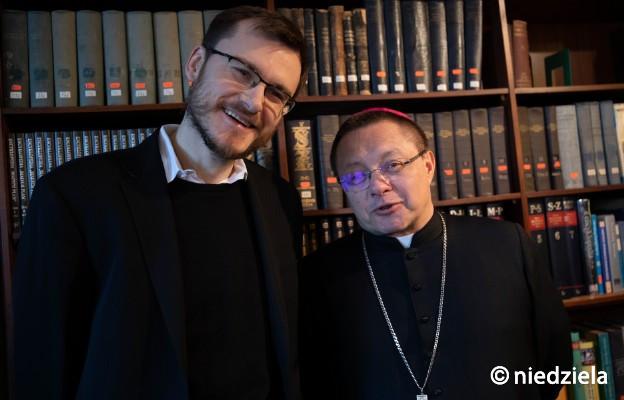 Arcybiskup Grzegorz Ryś i rabin Dawid Szychowski