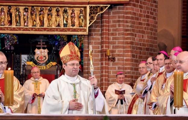Bp prof. Henryk Wejman podczas święceń biskupich