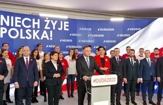 Prezydent Andrzej Duda przedstawił swój sztab wyborczy