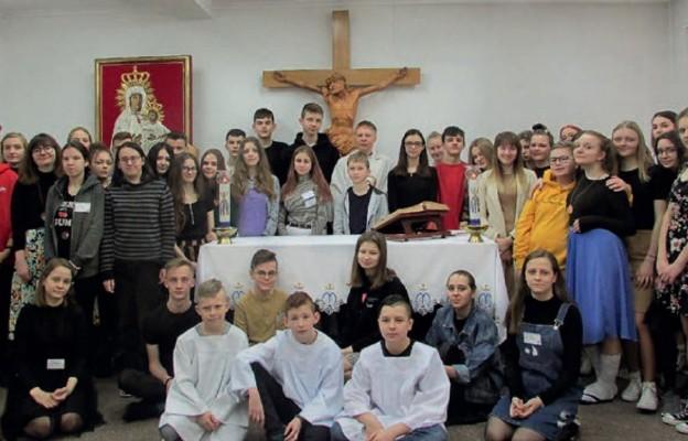 Uczestnicy rekolekcji w Tomaszowie Lubelskim