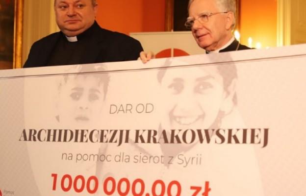 Archidiecezja krakowska przekazała milion złotych na pomoc dzieciom w Syrii