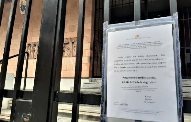 Rzym - parafia Grzegorza VII - ogłoszenie zamknięcia