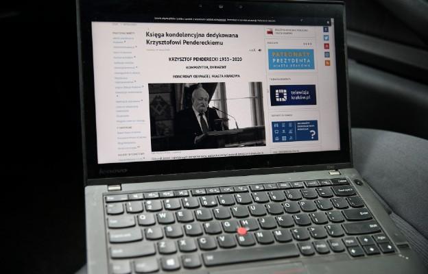 Księga kondolencyjna online, po śmierci Krzysztofa Pendereckiego
