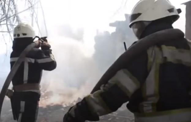 Pożar lasów w okolicach Czarnobyla