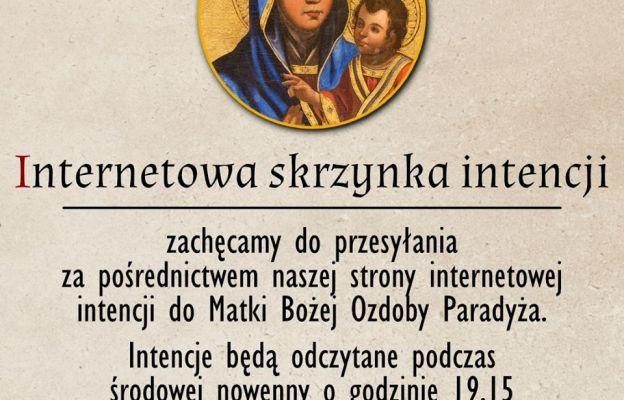 Intencje do Matki Bożej Ozdoby Paradyża