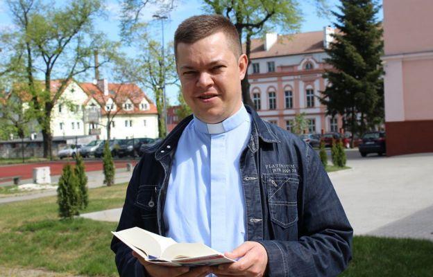 Na zdjęciu ks. Łukasz Łaszkiewicz