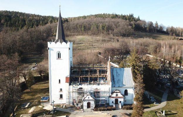 Widok z lotu ptaka na kościół