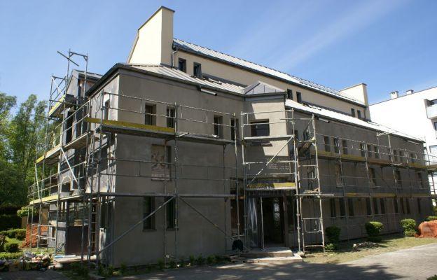 Prace remontowe przy budynku katechetycznym