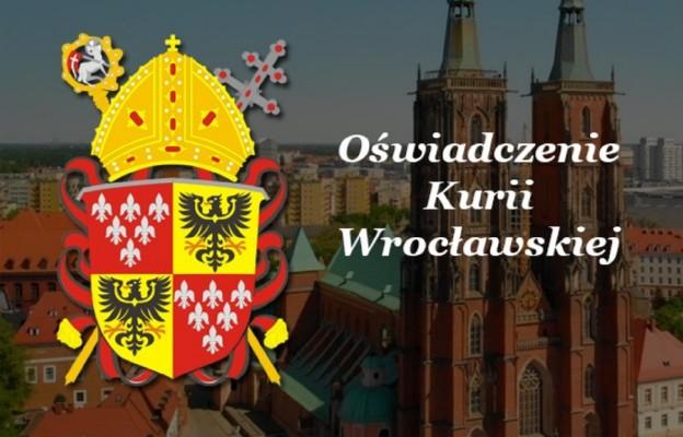 Kuria Wrocławska: Wyrażamy ból, przepraszamy i podtrzymujemy gotowość udzielenia pomocy