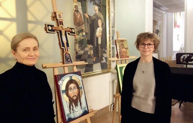 W kościele środowisk twórczych prowadzona jest Akademia Ikony. Od lewej: Elżbieta Jackowska-Kurek i Justyna Suchenek