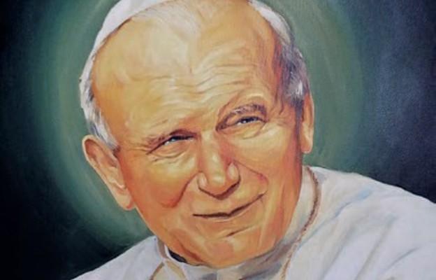Wizerunek św. Jana Pawła II z kościoła w Czeladzi-Piaskach