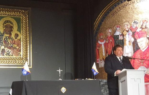Tomasz Warzkowicz podczas 10. Konwencji Stanowej Rycerzy Kolumba