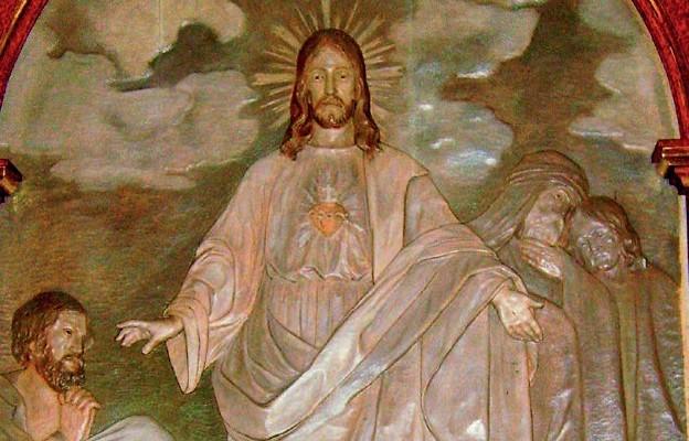 Płaskorzeźba Najświętszego Serca Pana Jezusa w Rzeszowie-Zalesiu