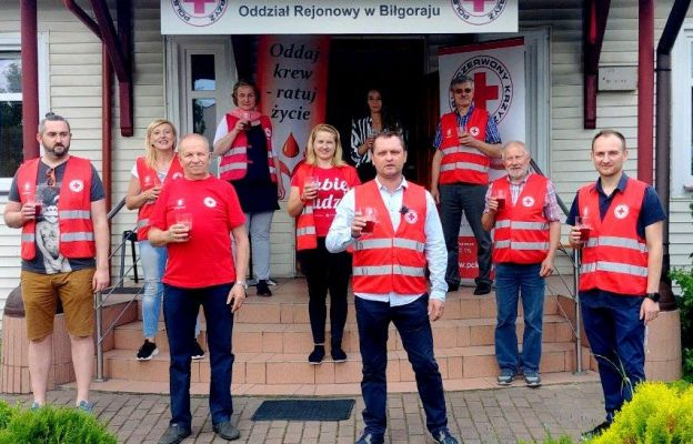 #ChallengePomagam w wykonaniu krwiodawców z PCK Biłgoraj
