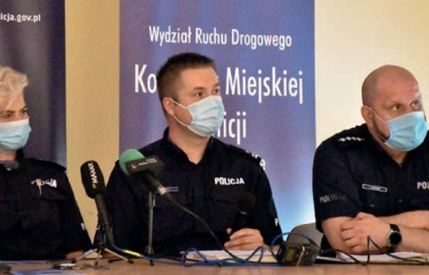 Od lewej: nadkom. Grażyna Dudek, podinsp. Rafał Zemła i asp. sztab. Tomasz Gromek