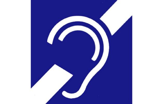 Symbol osób niesłyszących.