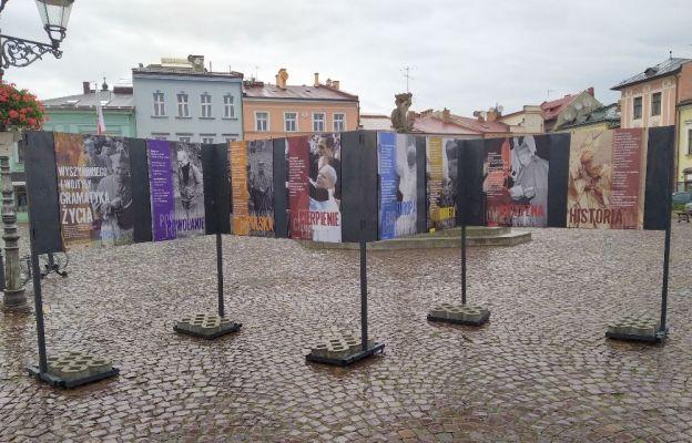 Wystawa na skoczowskim rynku.