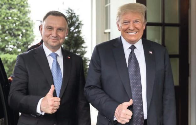 Prezydenci RP i USA podczas spotkania w Białym Domu, 24 czerwca 2020 r.