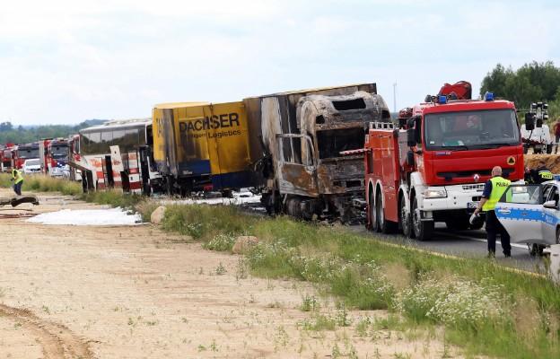 Częstochowa: Ok. 30 osób poszkodowanych w wypadku w Bogusławicach, w akcji pięć śmigłowców