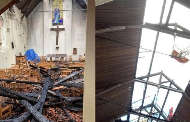 Pożar w polsko-francuskim kościele w Corbeil-Essonnes