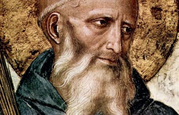Fresk Fra Angelico przedstawiający św. Benedykta z Nursji