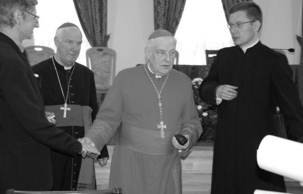 Kard. Zenon Grocholewski w świdnickim seminarium w 2010 roku.