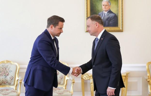 Rafał Trzaskowski gościem Prezydenta Andrzeja Dudy