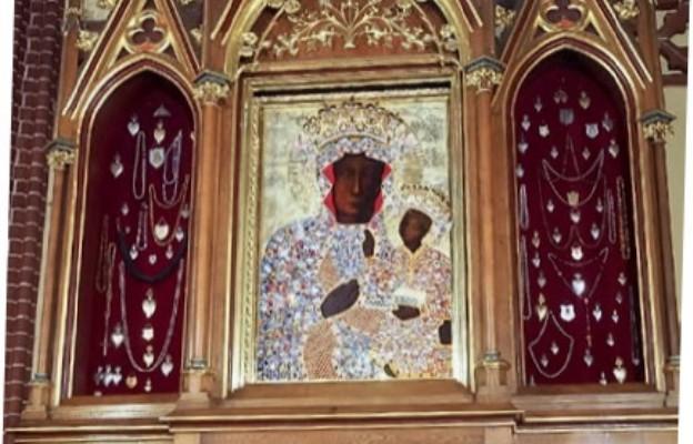 Obraz Matki bożej Zwycięskiej Królowej Korony Polskiej w bazylice św. jana Chrzciciela w Szczecinie