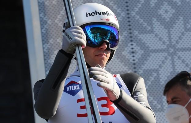 Szwajcar Simon Ammann podczas treninku 21.08.20