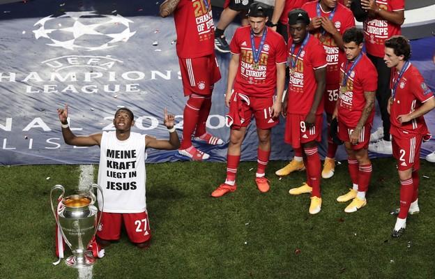 """Lizbona: zwycięstwo w Lidze Mistrzów Alaba świętował w koszulce z napisem """"Moją siłą jest Jezus"""""""