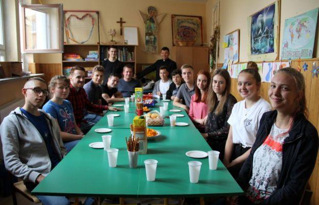 Spotkanie w salce przy parafii Podwyższenia Krzyża Świętego