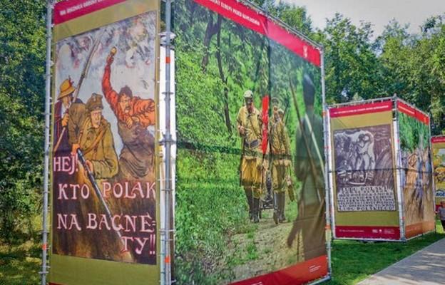 Wchodzących do Parku Leśnego wita wystawa poświęcona Bitwie Warszawskiej