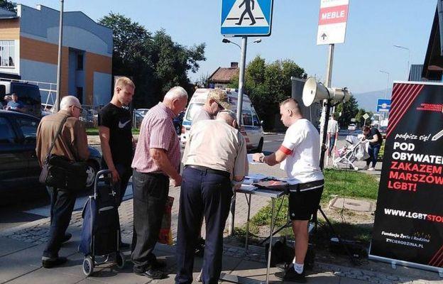 Zbiórka podpisów 16 września w Żywcu.