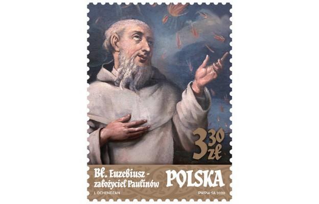 Poczta Polska: Założyciel zakonu Paulinów na znaczku pocztowym