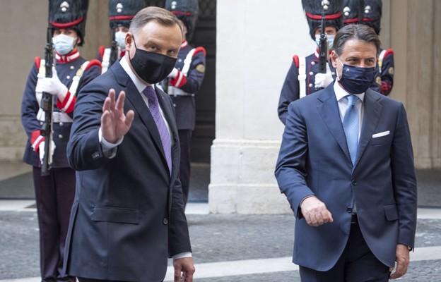 Prezydent RP Andrzej Duda i premier Włoch Giuseppe Conte