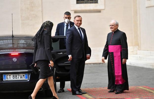 Wizyta prezydenta z żoną w Watykanie