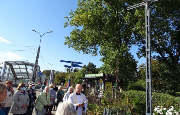 Koronka przy krzyżu tramwajarzy
