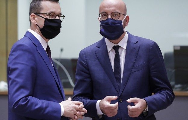 Mateusz Morawiecki podczas wizyty w Brukseli