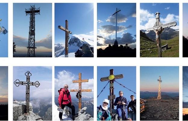 Krzyże w górach, przy których był Andrzej Georg