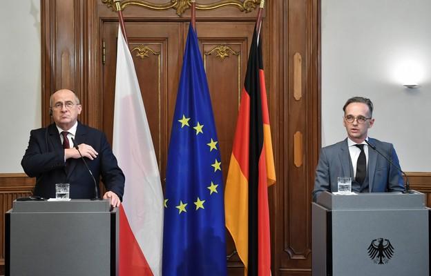 Minister spraw zagranicznych Zbigniew Rau i szef MSZ Niemiec Heiko Maas