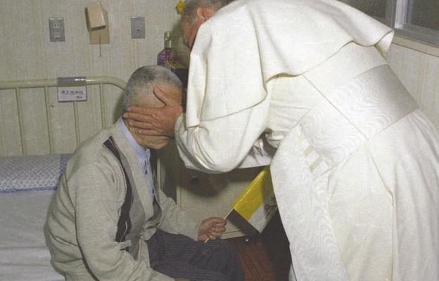 Podczas spotkania w szpitalu w Nagasaki