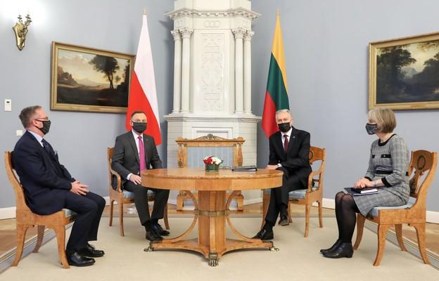 Prezydent Duda: Polska i Litwa wspierają tych, którzy domagają się uczciwej władzy na Białorusi